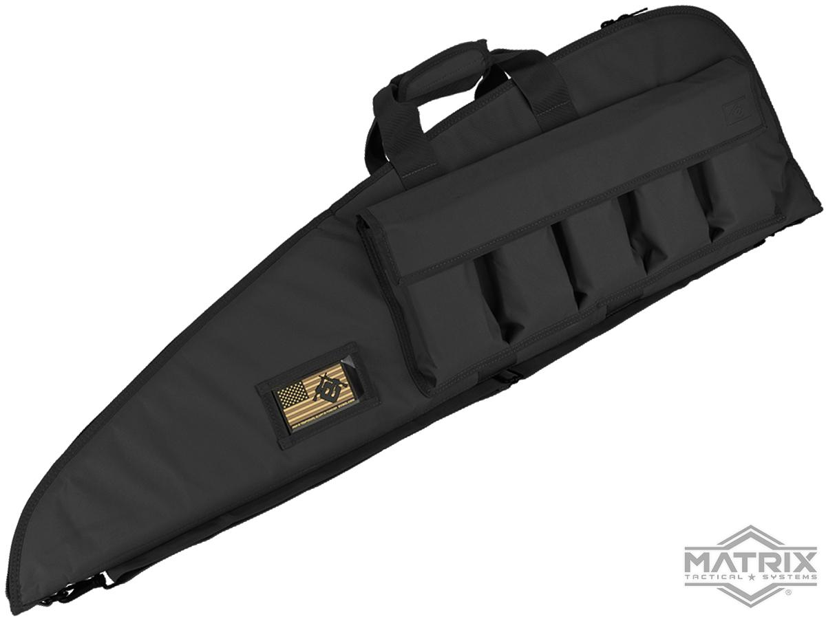 Evike.com 42 Deluxe Padded Rifle Case with External Magazine Pockets  (Color: Black)