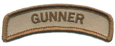 Matrix Tab IFF Hook and Loop Patch (Title: Gunner / Tan)