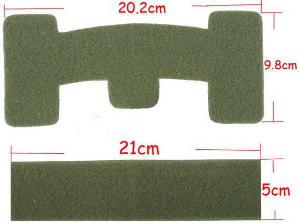 Matrix Loop Adhesive Strips for Tactical Helmets (Color: OD Green)