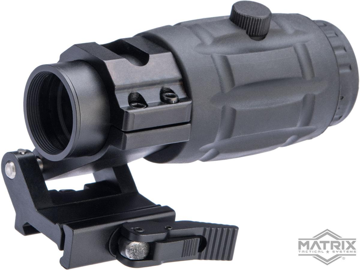 Pre-Order ETA July 2021 Matrix 3X Magnifier w/ Zero Adjustments & QD Flip-to-Side Mount for Airsoft Red Dot Scopes