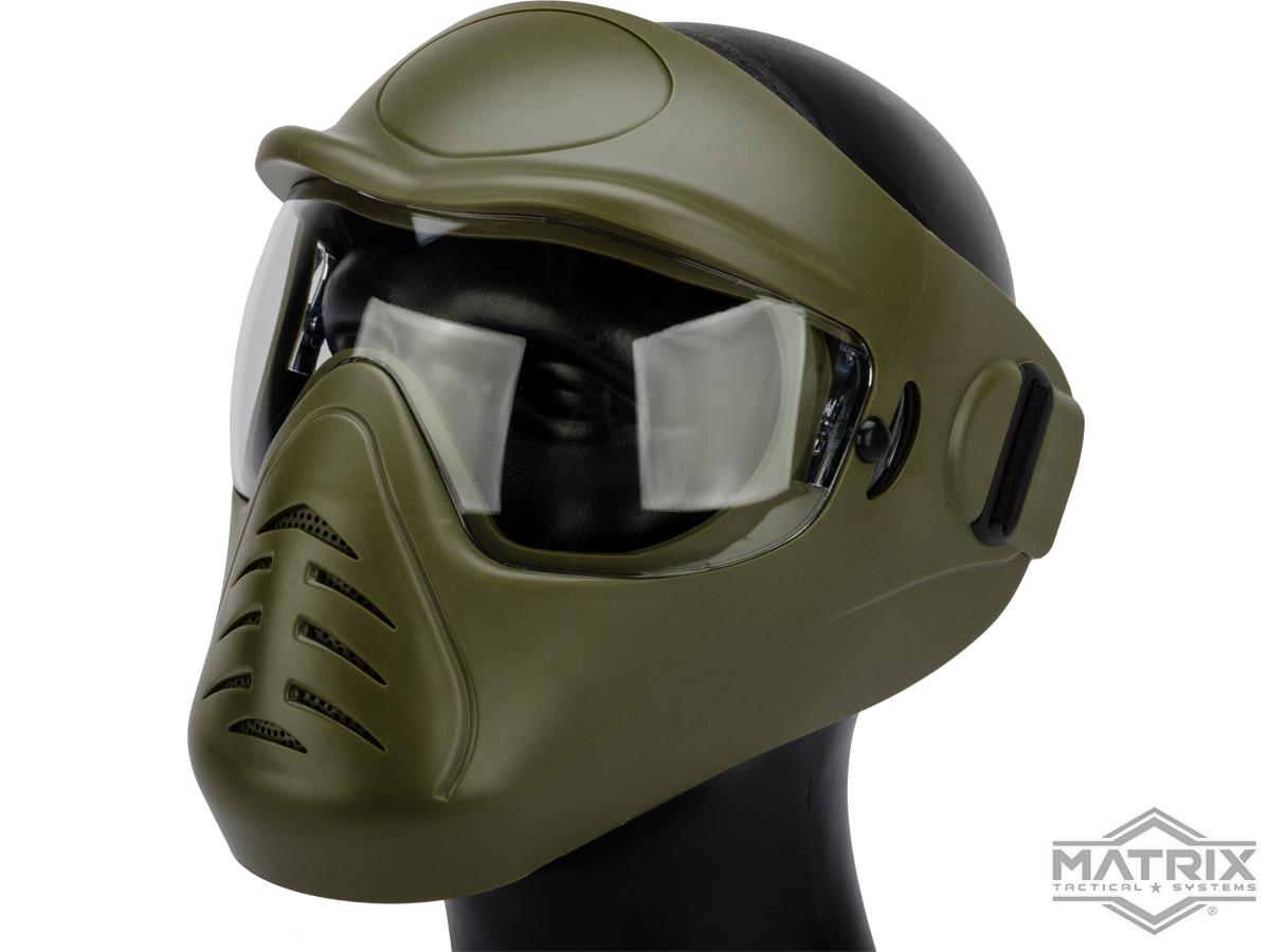 Matrix Space Anti-Fog Full Face Mask (Color: OD Green)