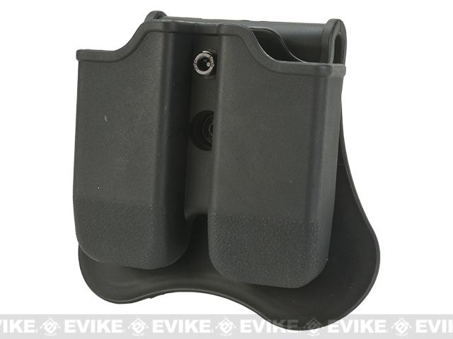 Matrix Hardshell Adjustable Magazine Holster for Glock Series Pistol Mags (Mount: Paddle Attachment / Black)