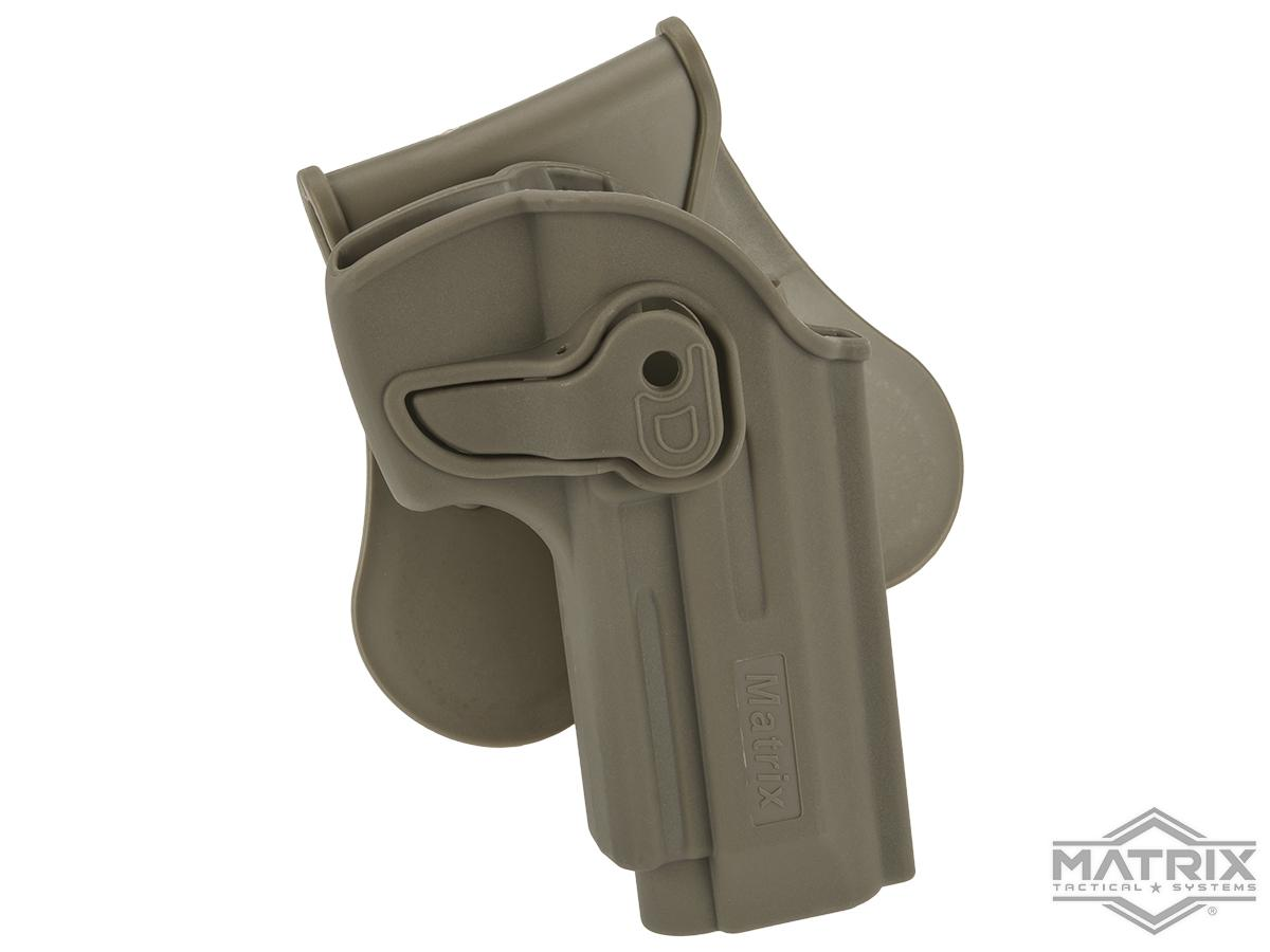 Matrix Hardshell Adjustable Holster for M9 Series Airsoft Pistols (Type: Flat Dark Earth / Paddle Attachment)