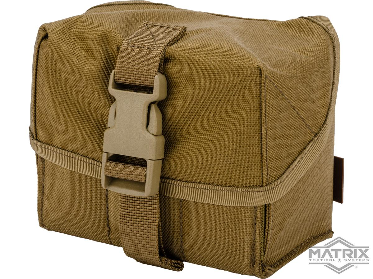 Matrix 40mm M203 Airsoft Grenade Shell Pouch (Color: Coyote Brown)
