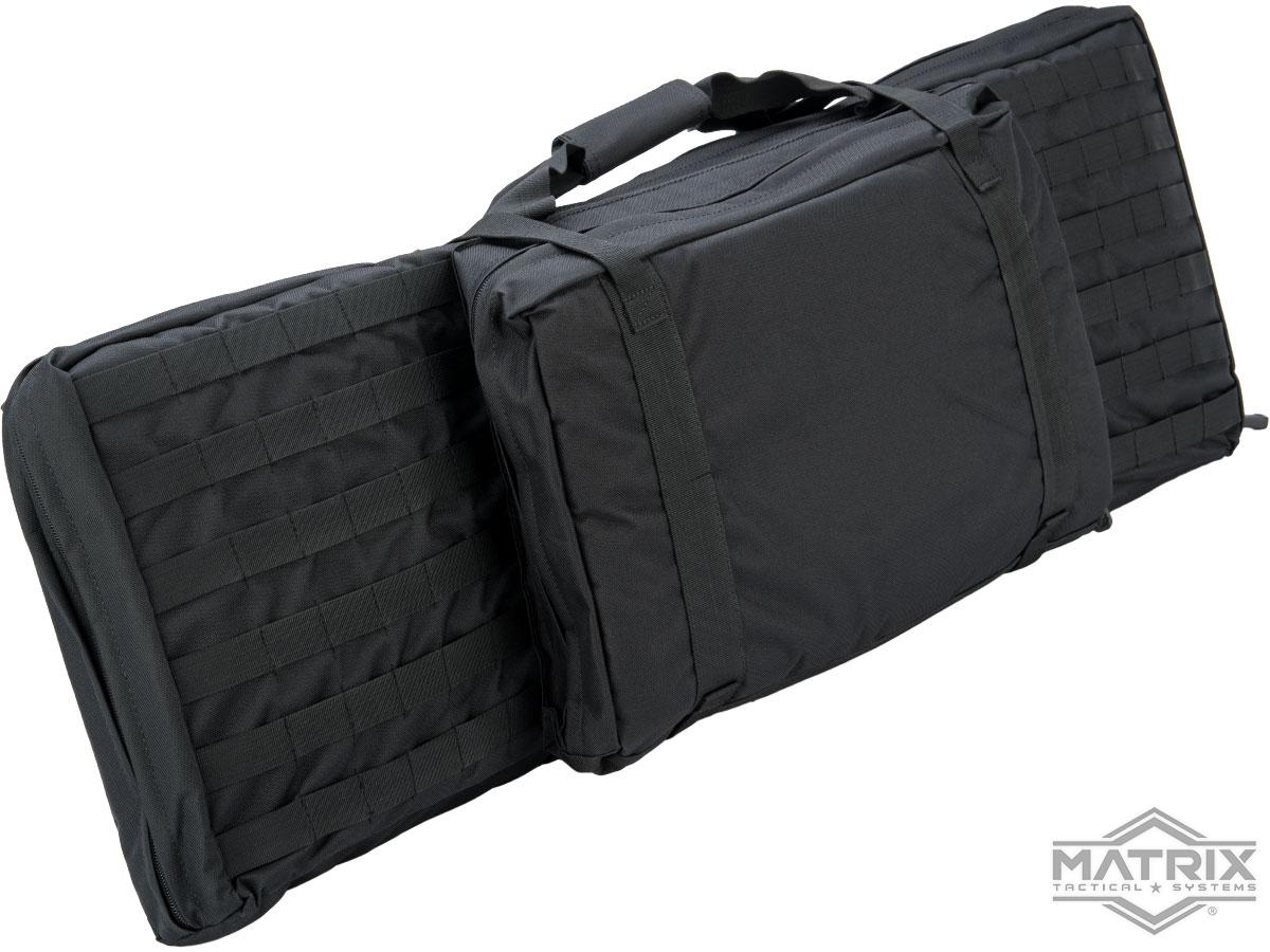 Matrix Tactical 38 Padded Double Duty Single Rifle Bag w/ Pistol Carrying Pouch (Color: Black)