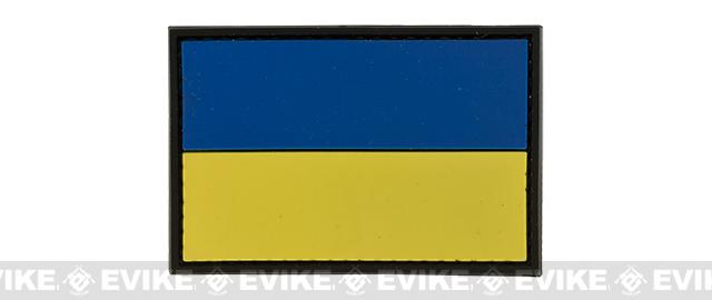 PVC Hook and Loop International Flag Patch (Flag: Ukraine)