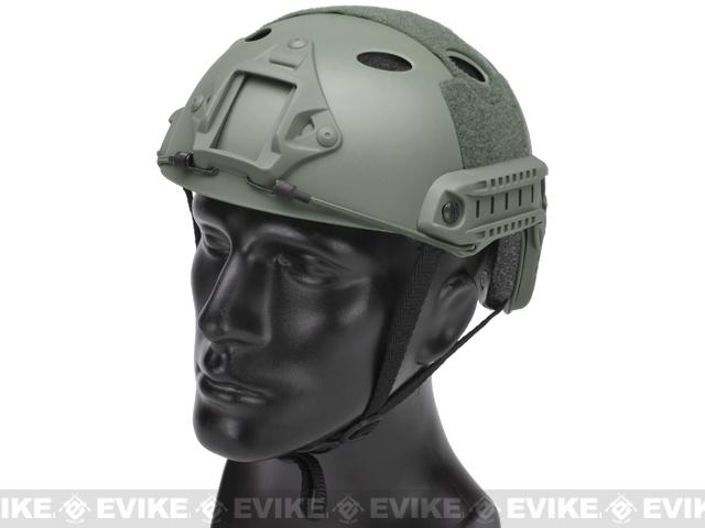 Matrix Basic PJ Type Tactical Airsoft Bump Helmet (Color: Foliage Green)
