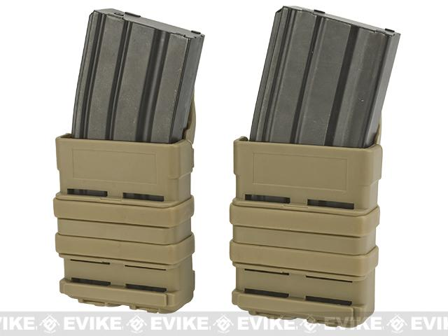 Matrix Fast Hard Shell Magazine Holster - 2x Rifle Mag Configuration (Color: Dark Earth)