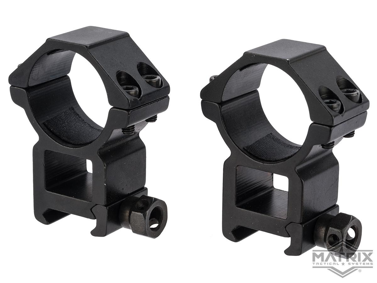 Matrix Aluminum Scope Mounting Rings (Type: 30mm Tube / Tall)