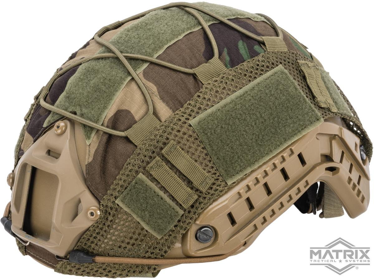 Matrix Bump Type Helmet Cover w/ Elastic Cord (Color: Woodland)