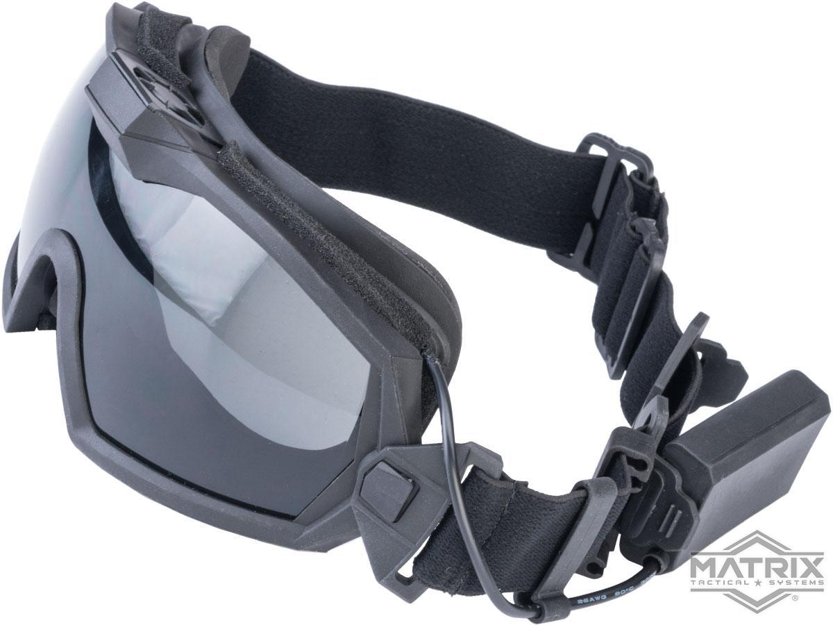 Matrix Tactical Anti Fog Goggle w/ Fan (Color: Black)