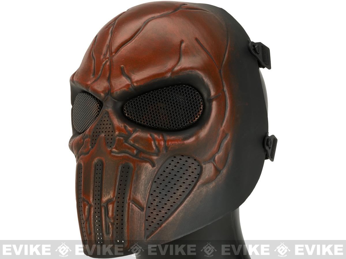 Matrix High Speed Wire Mesh Chastener Skull Mask - Flame