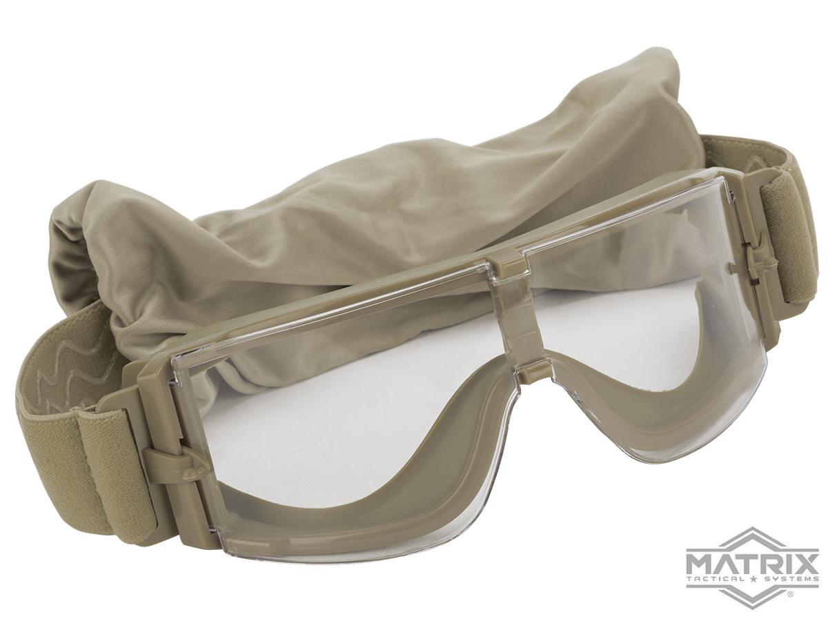 GX-1000 Anti-Fog Tactical Shooting Goggle System w/ CD Kane Strap by Matrix (Lens: Clear / Tan Frame)