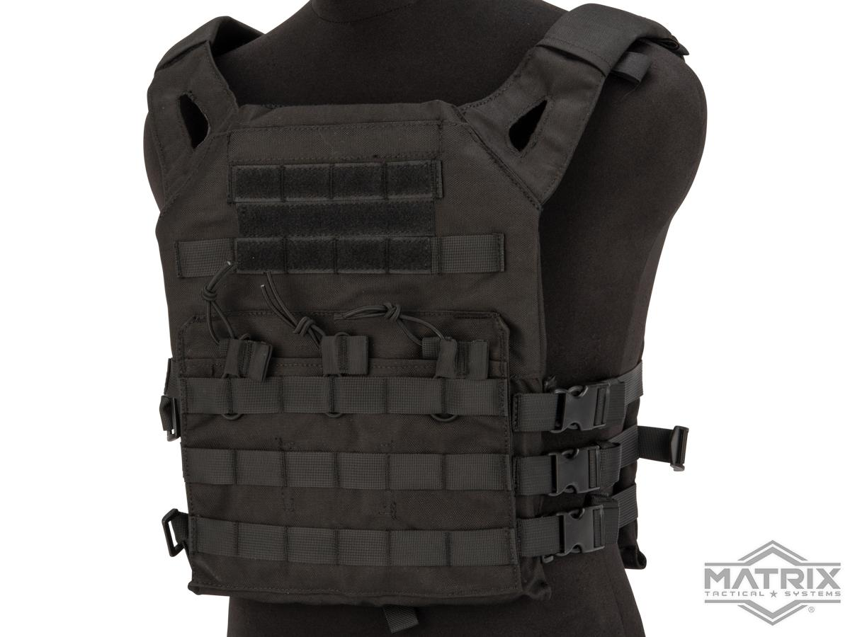 Matrix Level-1 Plate Carrier with Integrated Magazine Pouches (Color: Black)