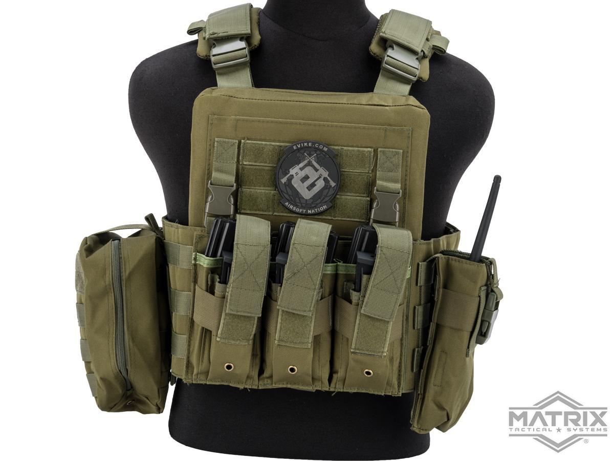 Matrix Adaptive Plate Carrier Vest w/ Cummerbund & Pouches (Color: OD Green)