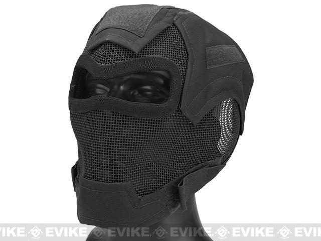 Matrix Iron Face Carbon Steel Watcher Gen7 Metal Mesh Full Face Mask (Color: Black)