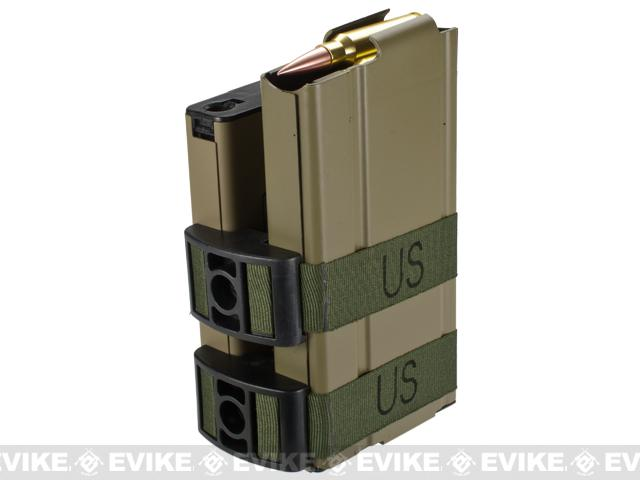 Matrix 750rd Electric Double Magazine for M14 Series Airsoft AEG Rifles (Color: Tan)