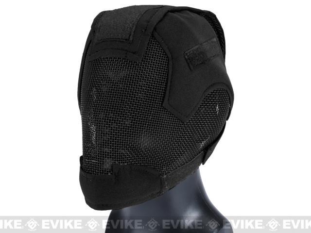 Matrix Striker Helmet Full Face Carbon Steel Mesh Mask (Color: Black)
