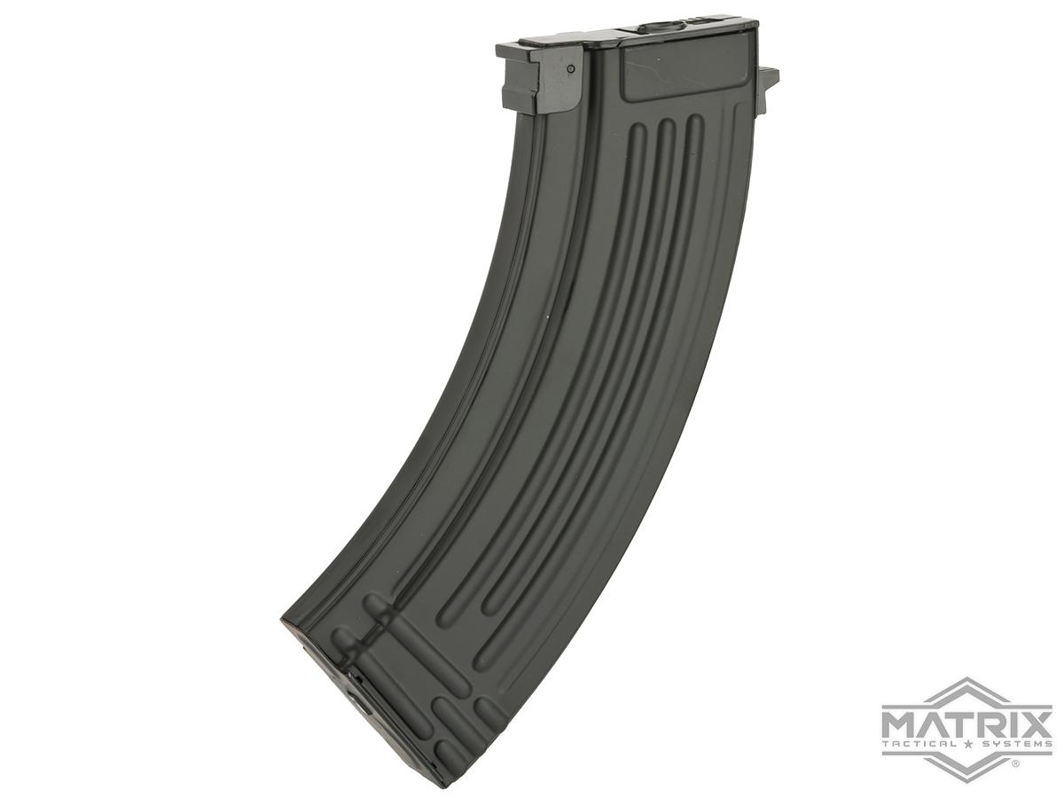Matrix 150rd  Mid-cap No Winding Magazine for AK Series Airsoft AEG (Color: Black / Stamped Metal)