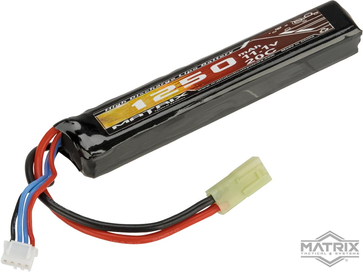 Matrix High Performance 11.1V Stick Type Airsoft LiPo Battery (Configuration: 1250mAh / 12C / Small Tamiya)