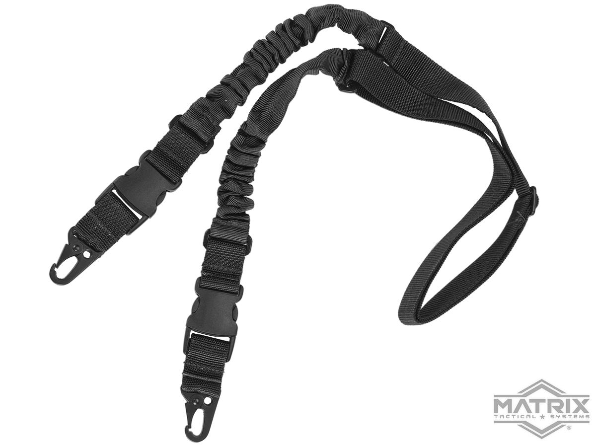 Matrix 2-Point Bungee Sling w/ QD Buckles (Color: Black)