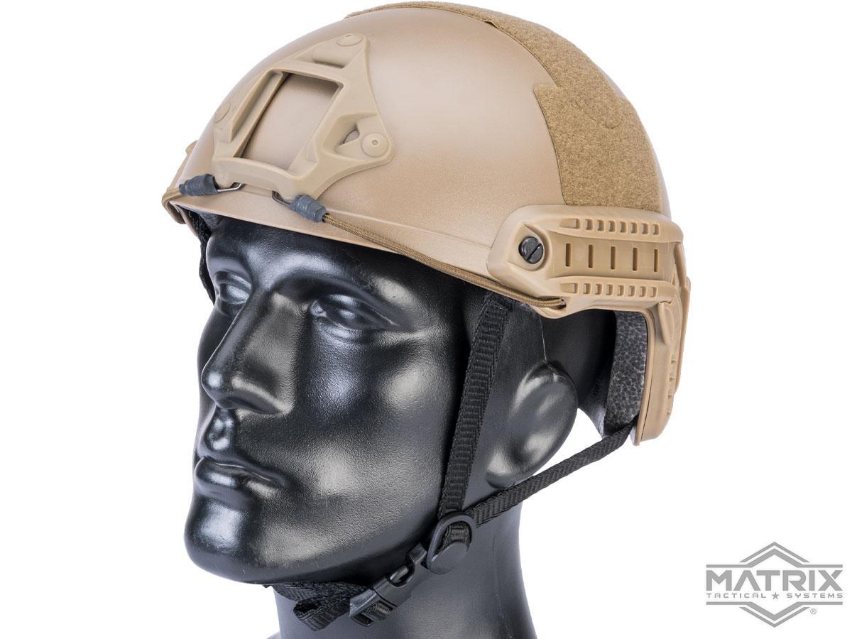 Matrix Basic High Cut Ballistic Type Tactical Airsoft Bump Helmet (Color: Dark Earth)
