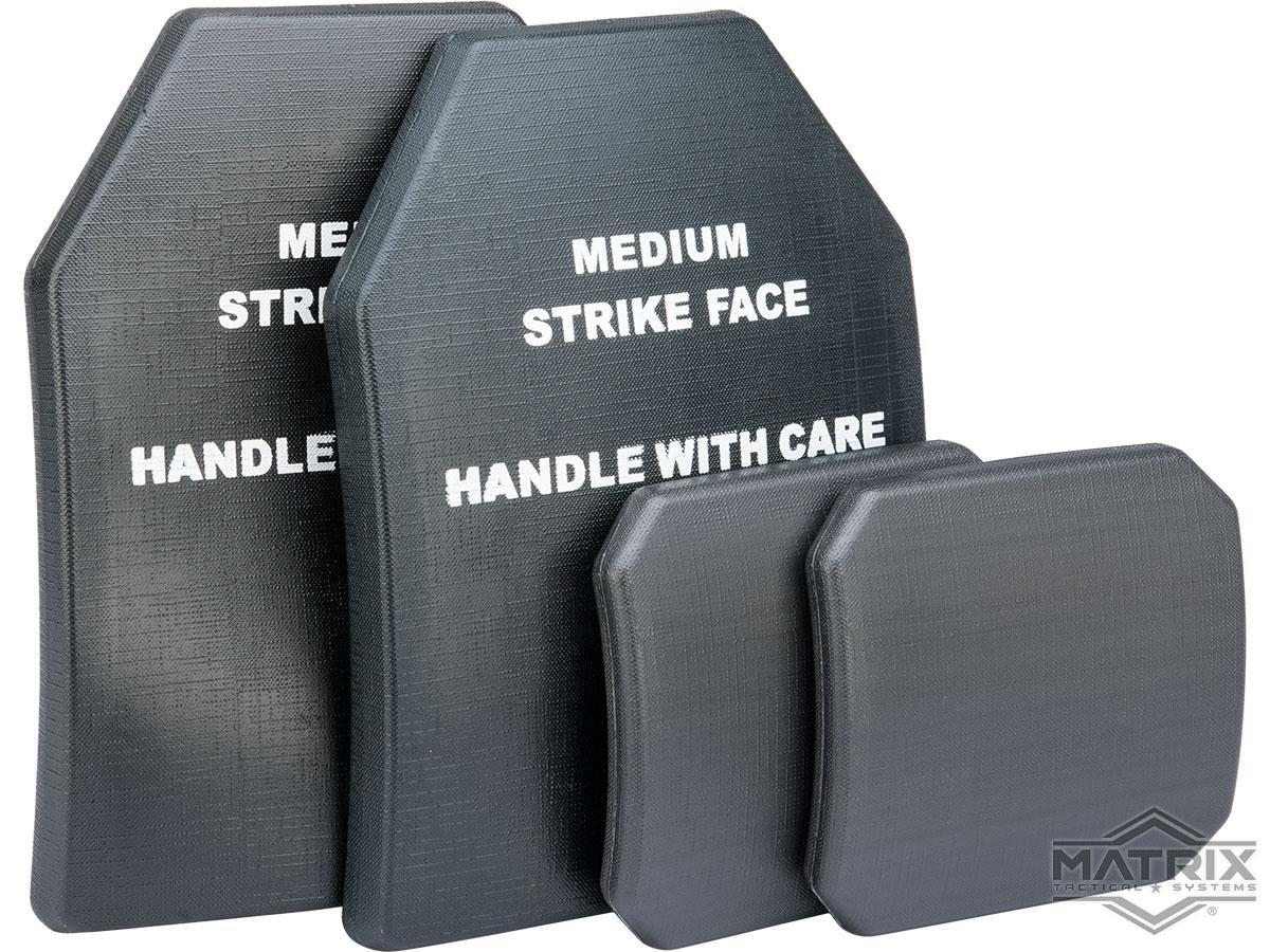 Matrix 4 pcs Replica SAPI Dummy Ballistic Plate Set w/ Front, Back, & Sides (Color: Black)