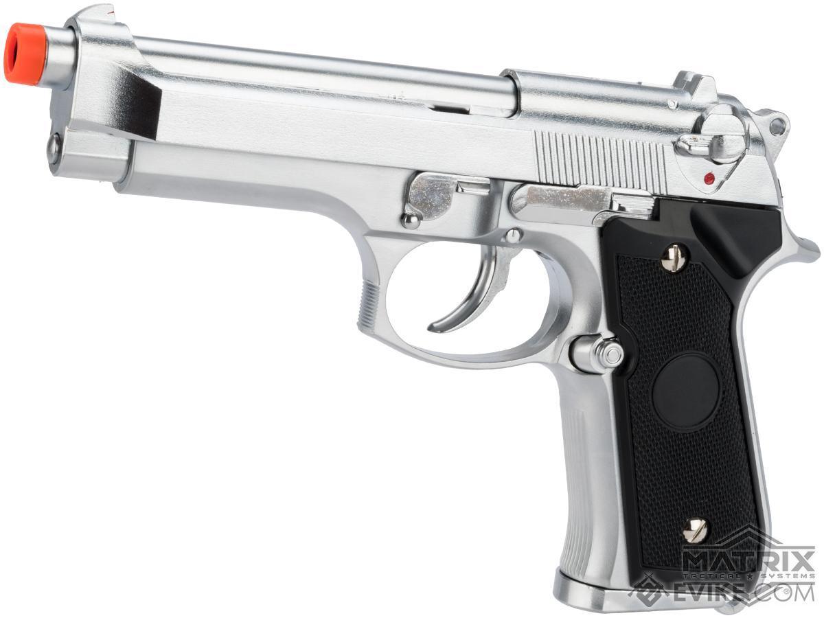 Matrix Elite Tokyo Marui Clone M9 Gas Blowback Airsoft GBB Pistol (Color: Silver)