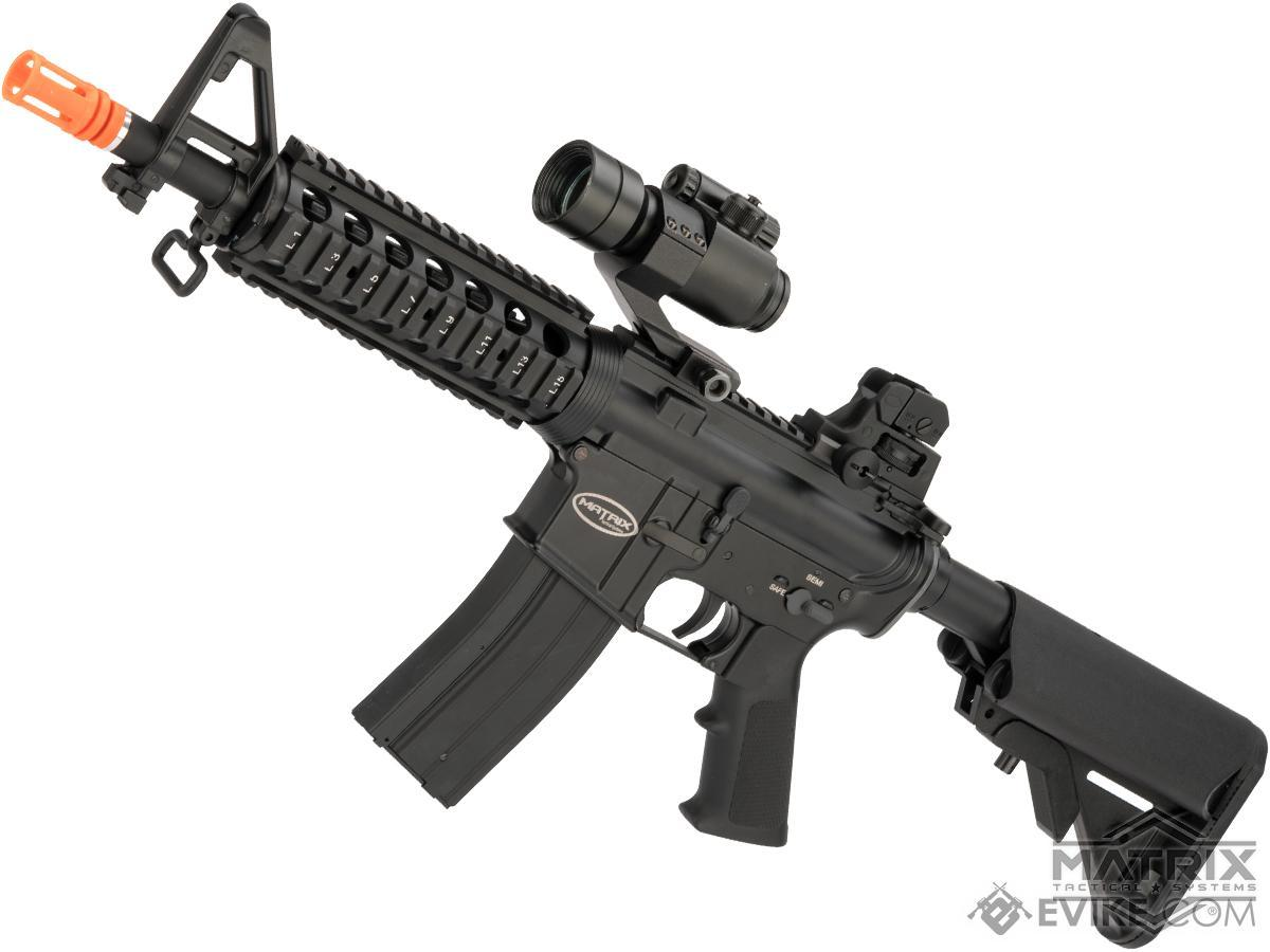 Matrix Full Metal Gas Blowback Airsoft Rifle with Western Arms Gas System (Model: M4 CQB-R)