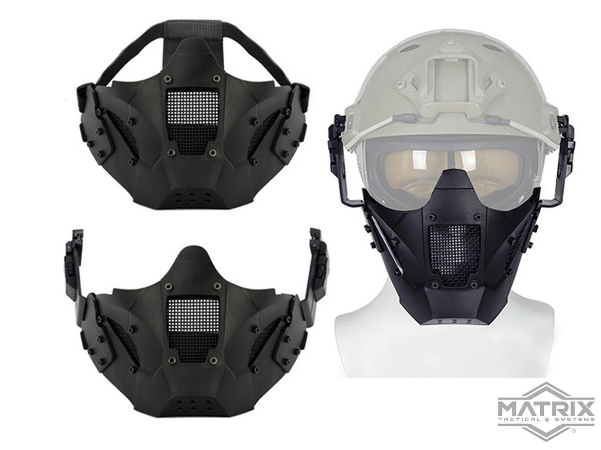 Matrix Iron Warrior Polymer and Mesh Modular Face Mask (Color: Black)