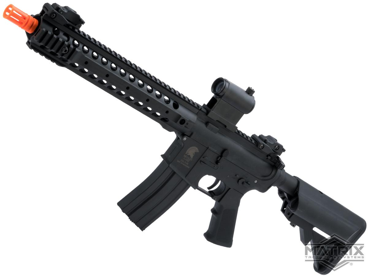 Matrix / S&T Sportsline M4 RIS Airsoft AEG Rifle w/ G3 Micro-Switch Gearbox (Model: Black URX 3.1 12 / 350 FPS)