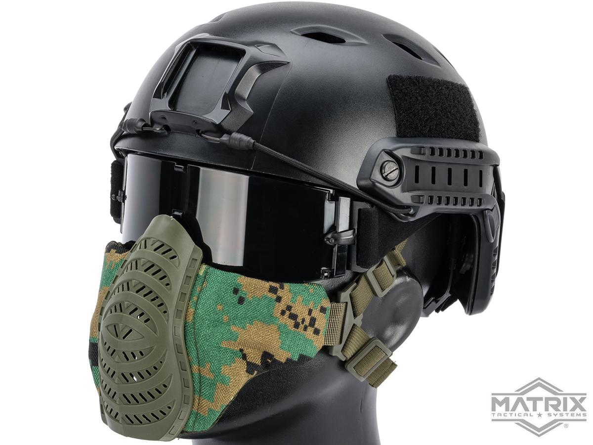 Matrix Low Profile Tactical Padded Lower Half Face Mask (Color: AOR2)
