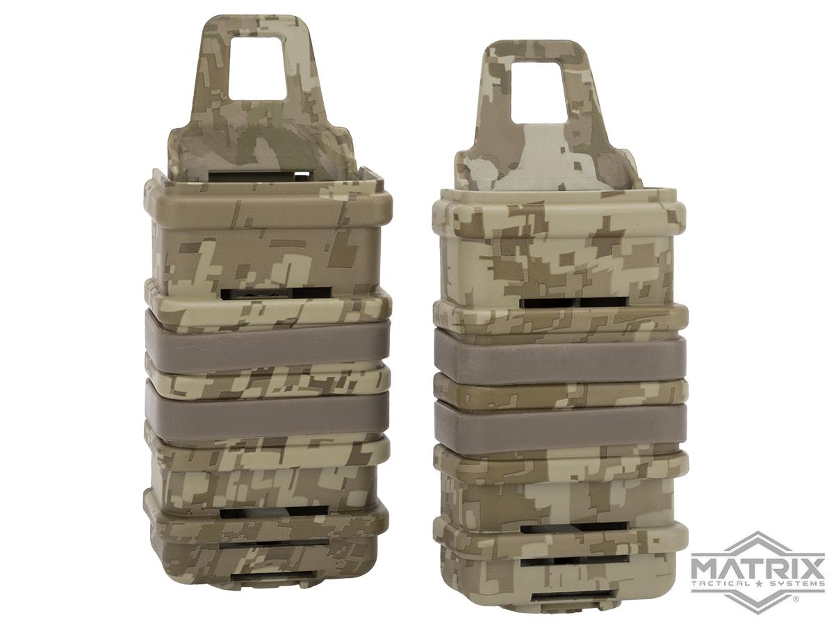 Fast Hard Shell Magazine Holsters Set of 2 for MP7 MP5 Pistol SMG (Color: Digital Desert)