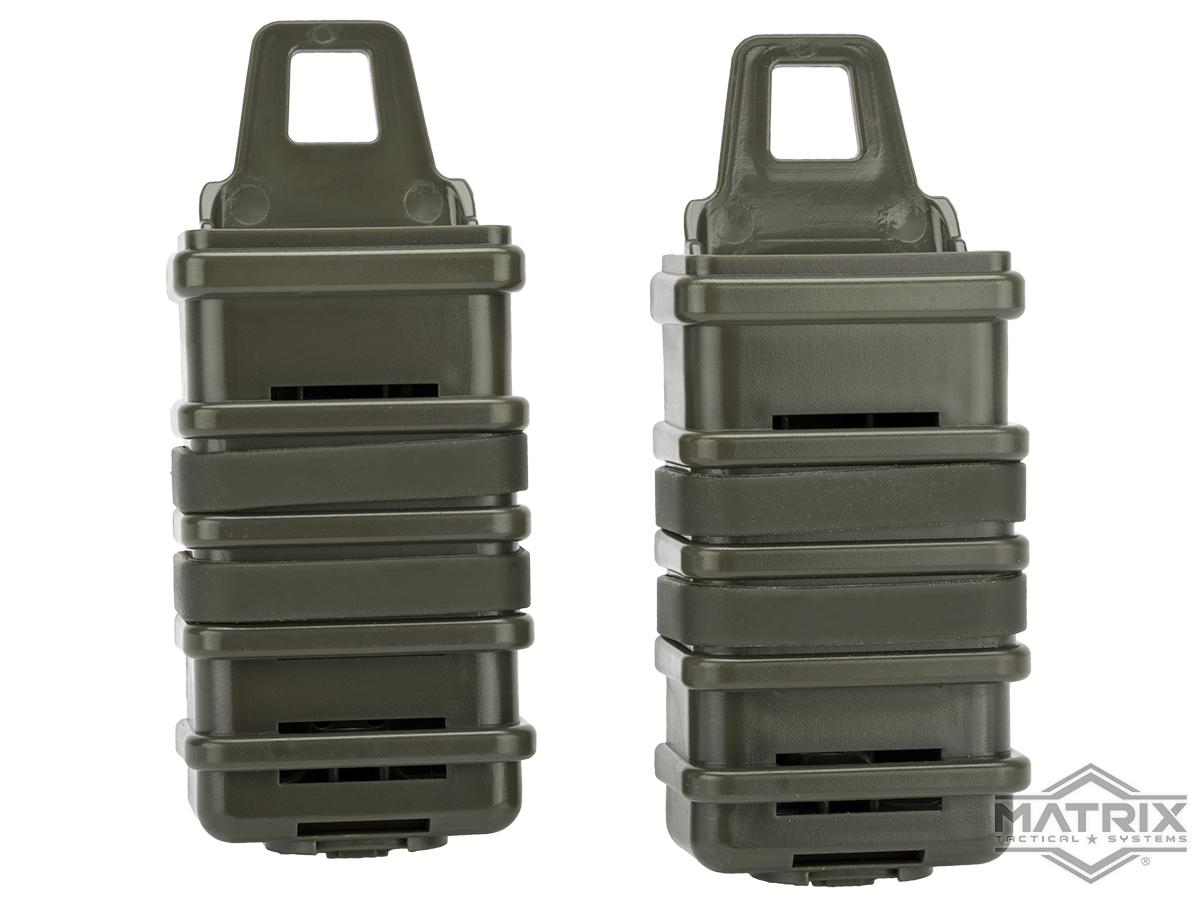 Fast Hard Shell Magazine Holsters Set of 2 for MP7 MP5 Pistol SMG (Color: OD Green)