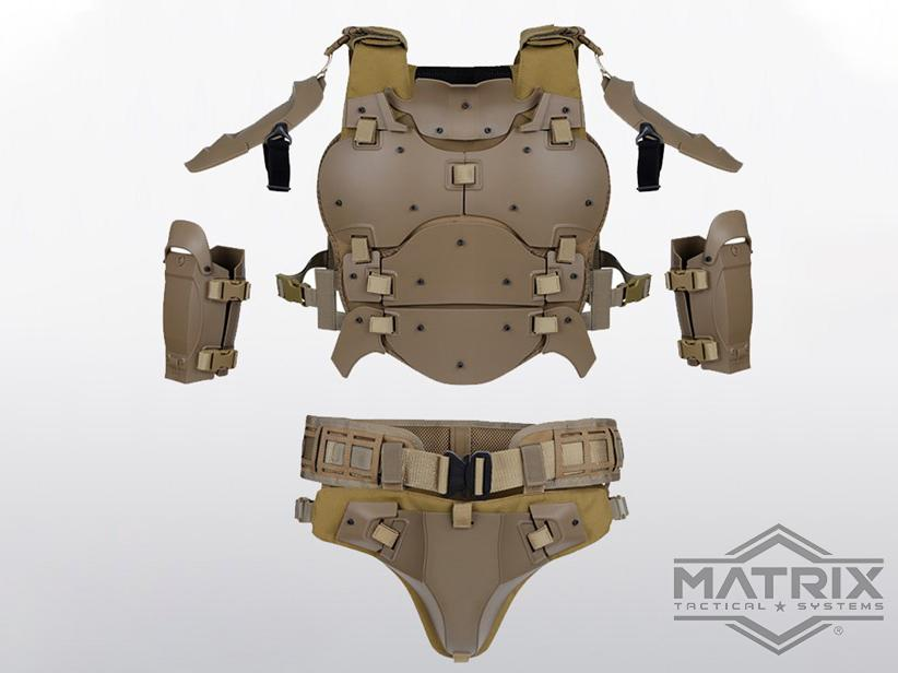 Matrix Full-Coverage Body Armor Suit (Color: Tan)