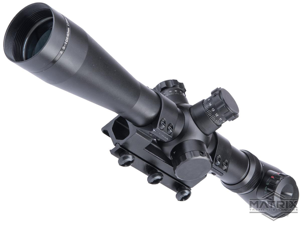 Matrix 3.5-10x40 Illuminated Scope Set with Lens Covers and QD Scope Mount