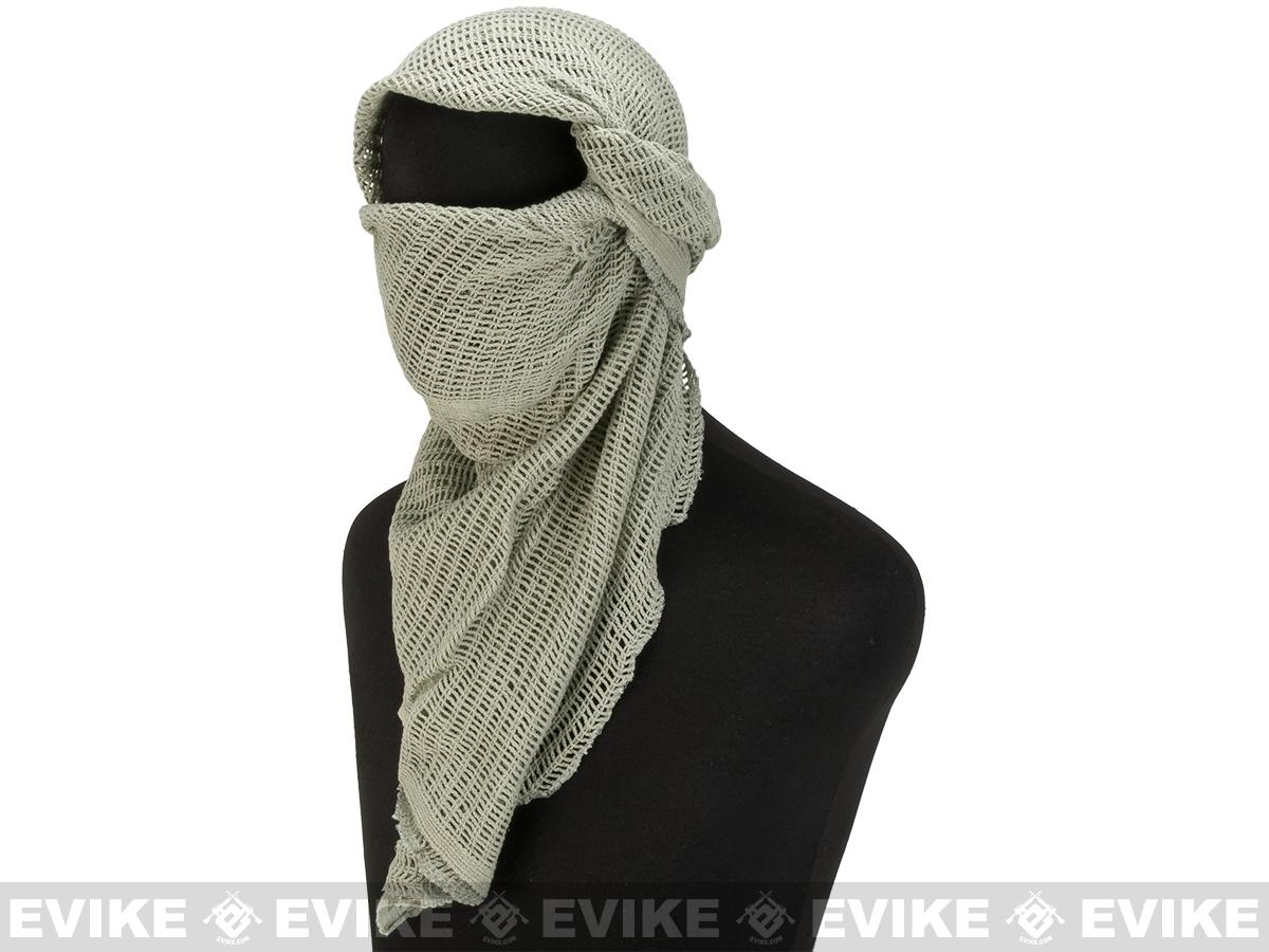 Matrix Cotton Sniper Veil Head Wrap (Color: Foliage Green)