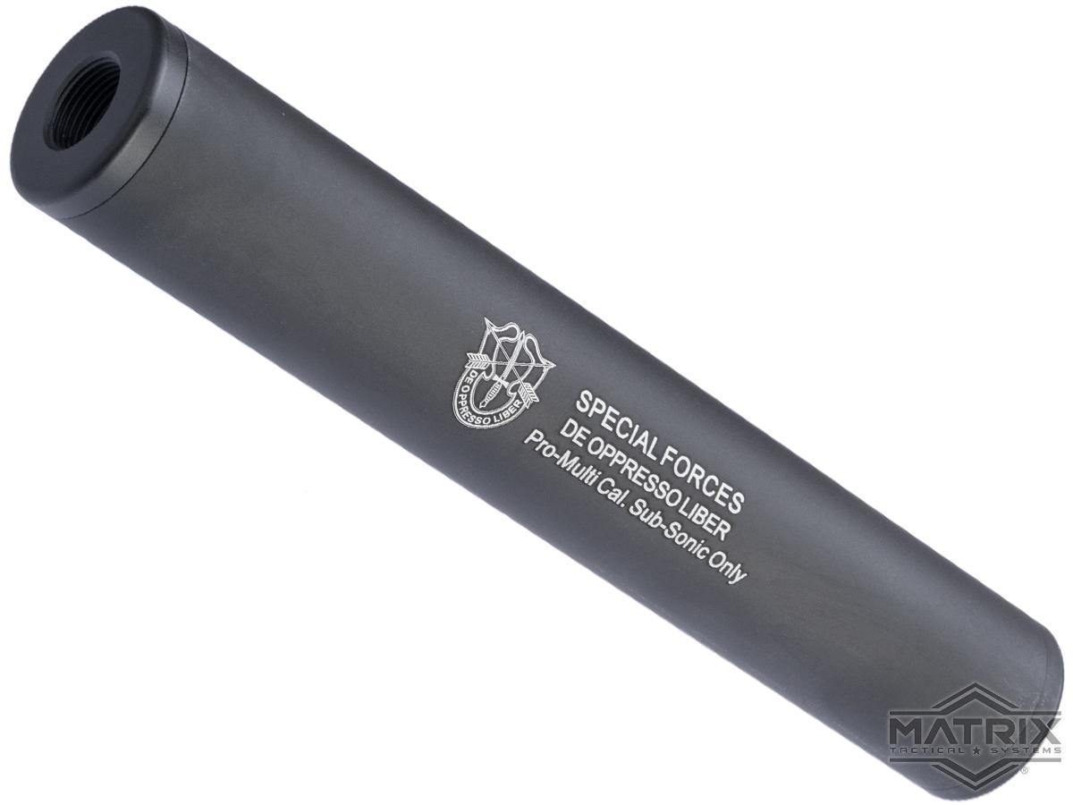 Pre-Order ETA September 2021 Matrix Airsoft Mock Suppressor / Barrel Extension - 30 X 180mm (Style: Special Forces / Black)