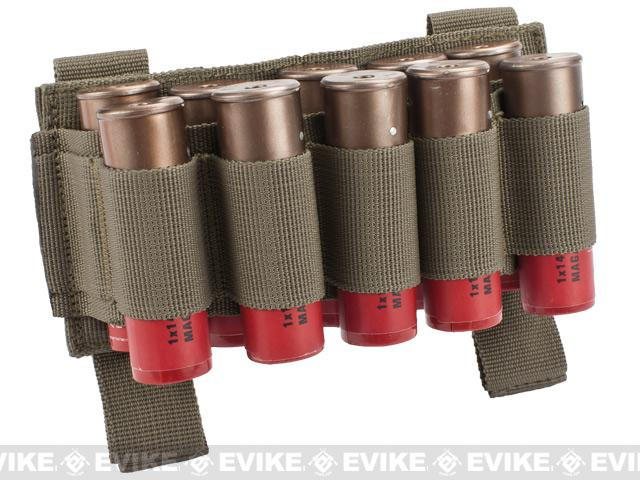 Matrix 10 Shotgun Shell MOLLE System Ready Pouch / Holster (Color: Tan)