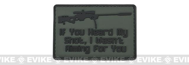 PVC Hook and Loop IFF Patch - Sniper: I Wasn't Aiming For You - Green