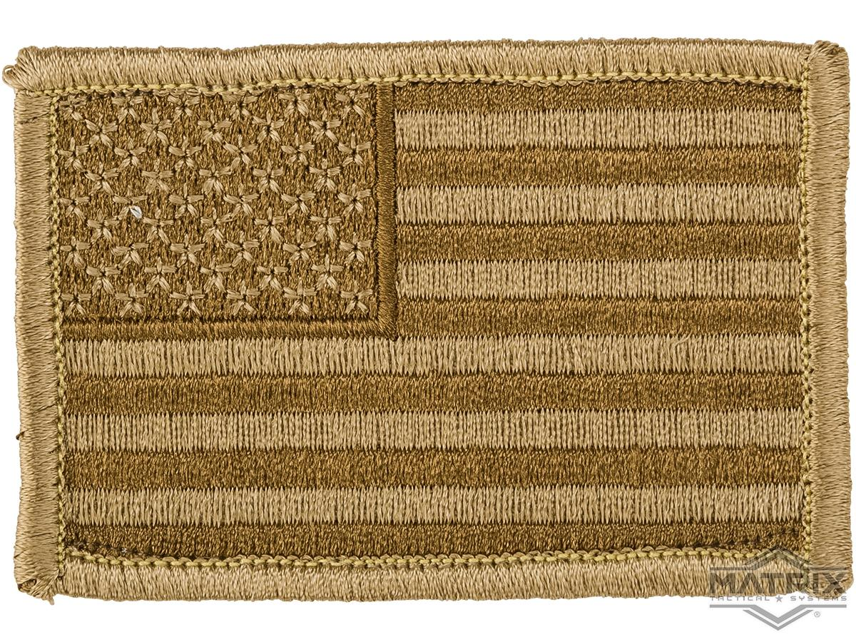Matrix Hook and Loop U.S. IFF Flag Patch (Color: Desert / Regular)