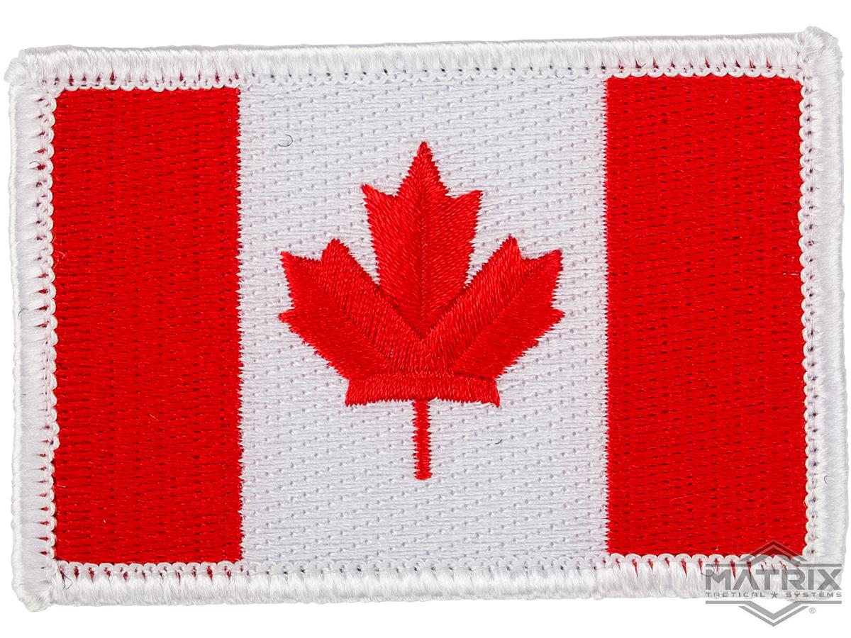 Matrix Country Flag Series Embroidered Morale Patch (Country: Canada)