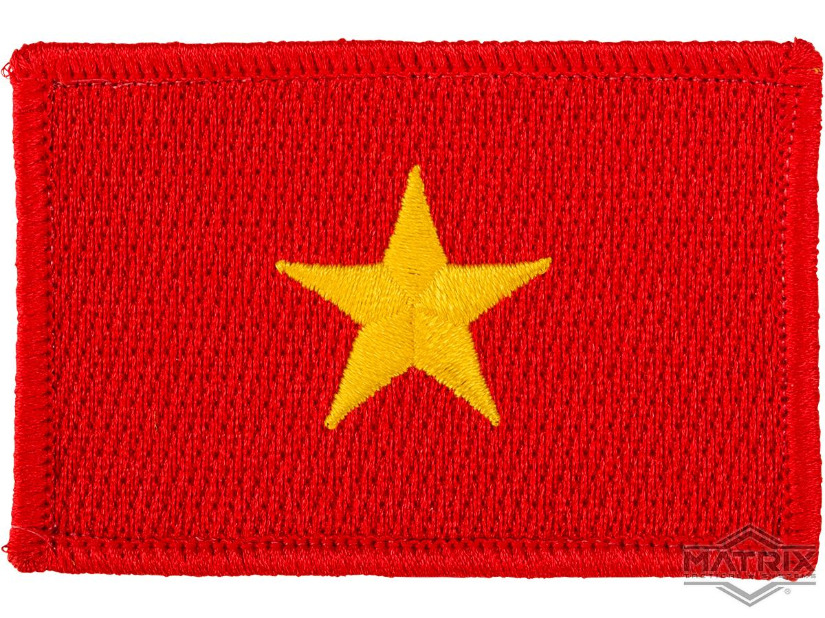 Matrix Country Flag Series Embroidered Morale Patch (Country: Vietnam)