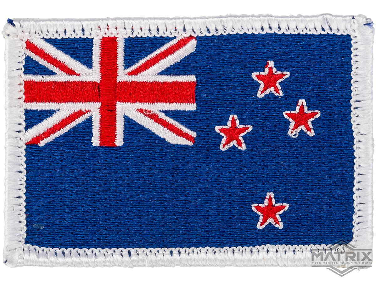 Matrix Country Flag Series Embroidered Morale Patch (Country: New Zealand)