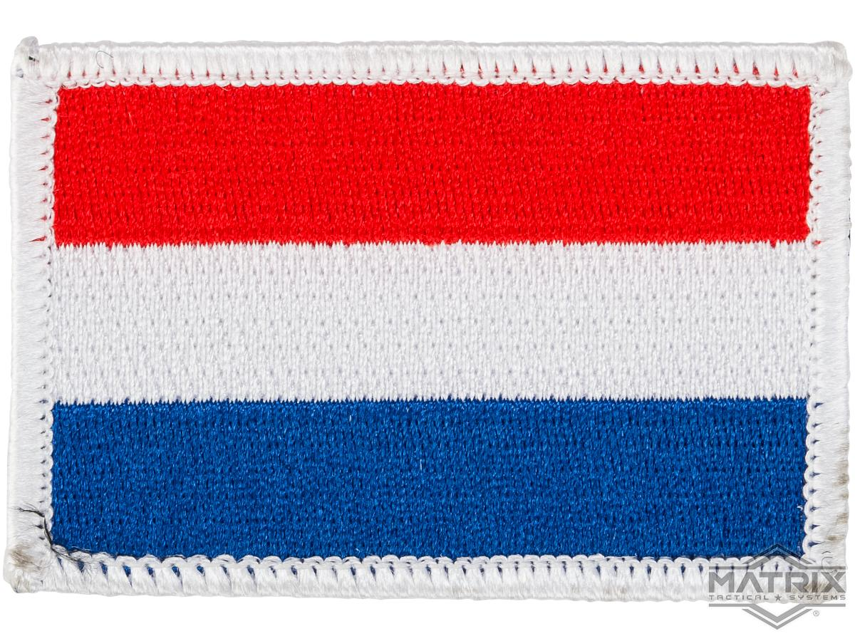 Matrix Country Flag Series Embroidered Morale Patch (Country: Neatherlands)