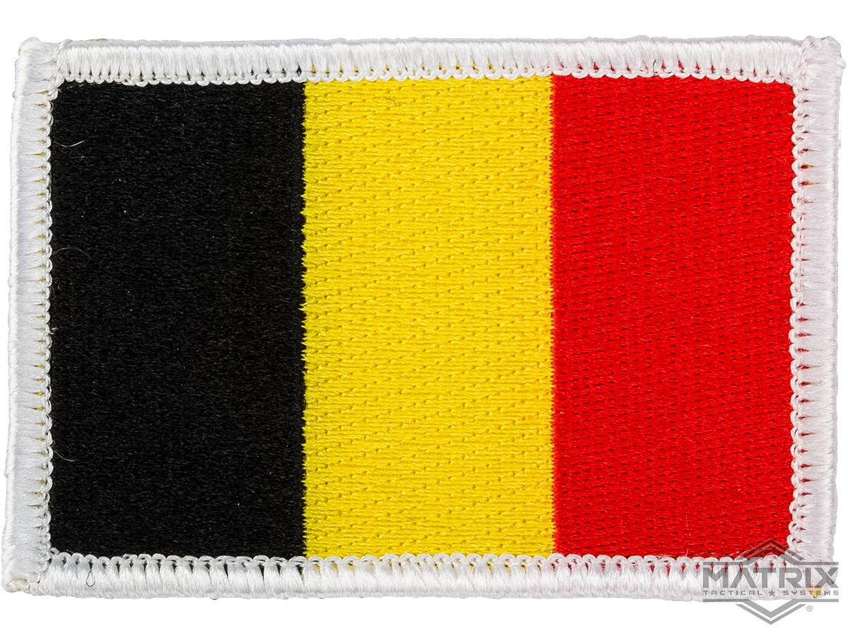 Matrix Country Flag Series Embroidered Morale Patch (Country: Belgium)