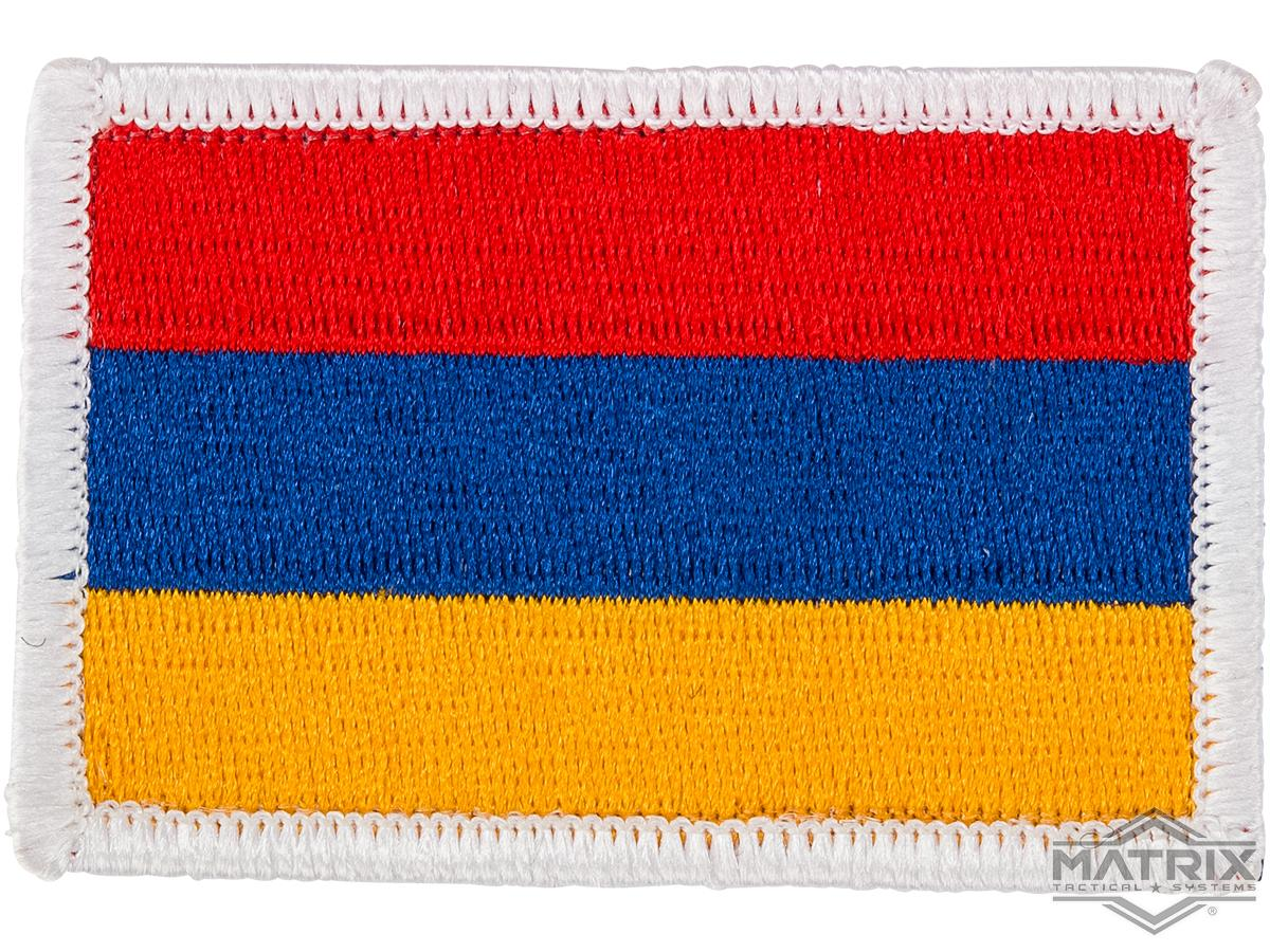Matrix Country Flag Series Embroidered Morale Patch (Country: Armenia)