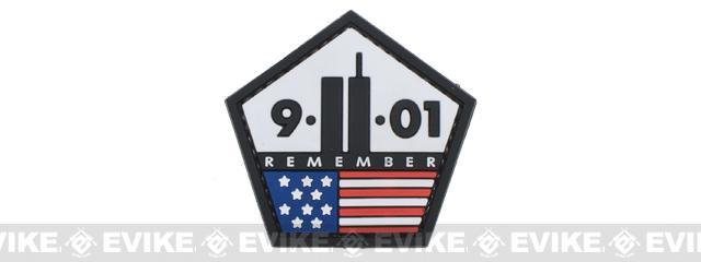 Remember 9-11 PVC Hook and Loop Morale Patch