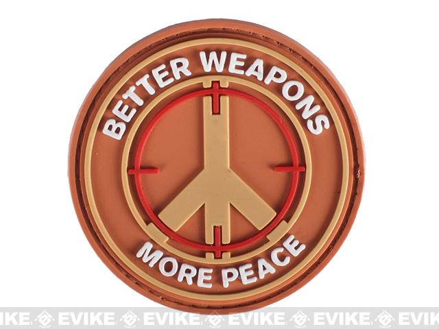 PVC IFF Hook and Loop Morale Patch - Better Weapons More Peace