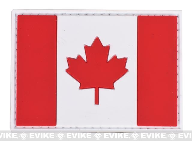 PVC Hook and Loop International Flag Patch (Flag: Canada)
